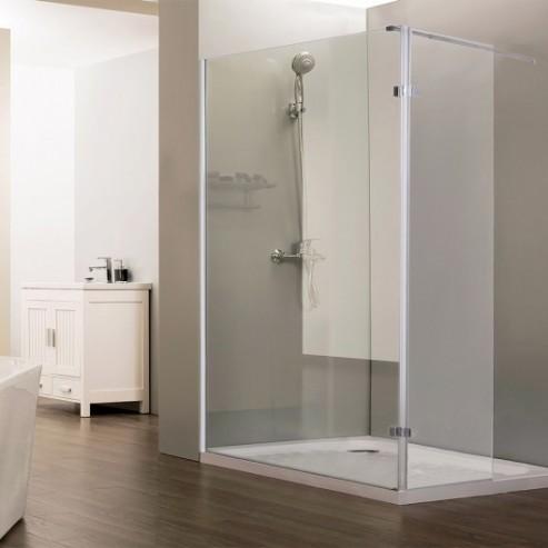 paroi de douche fixe avec retour 10 mm sturdy 120 40 cm