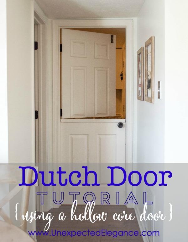 Dutch or Split Door Tutorial Using a Hollow Core Door..step by step instructions & Dutch door Tutorial Using a Hollow Core Door