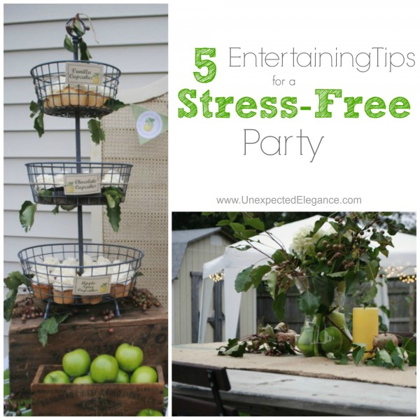 5 Entertaining Tips for a Stress free party