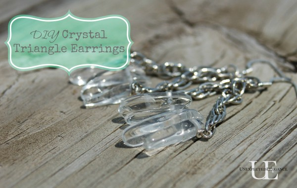 DIY Crystal Triangle Earrings via Unexpected Elegance