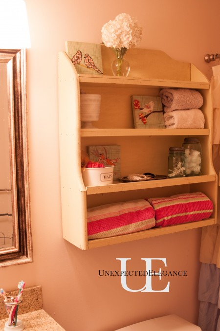 Old Cabinet about toliet in bathroom via Unexpected Elegance (1 of 1)-4