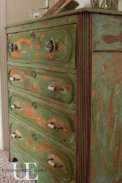 Dresser Makeover over at Unexpected Elegance
