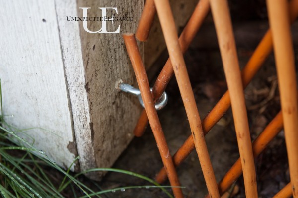 How to hang lattice fence (1 of 1)