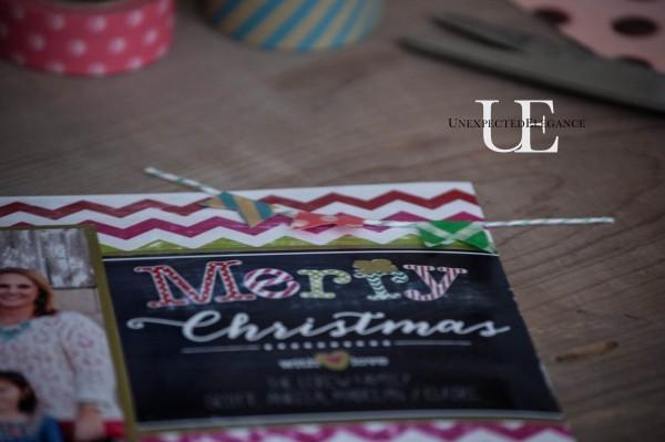 Embellishing Walgreens Printed Christmas Cards #Walgreensapp #shop