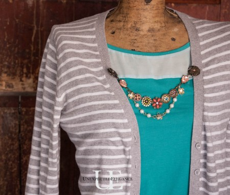 How to Make a Cardigan Chain. Great for Gift Giving-1-4