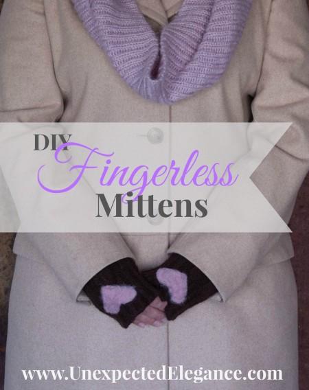 How to make easy Fingerless Mittens
