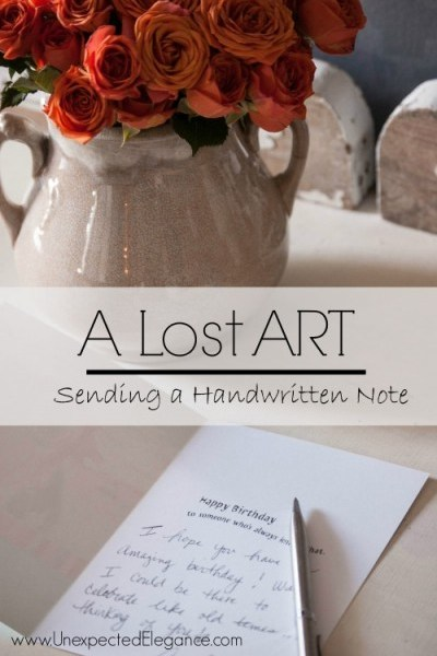 The Lost ART of Sending a Handwritten Note