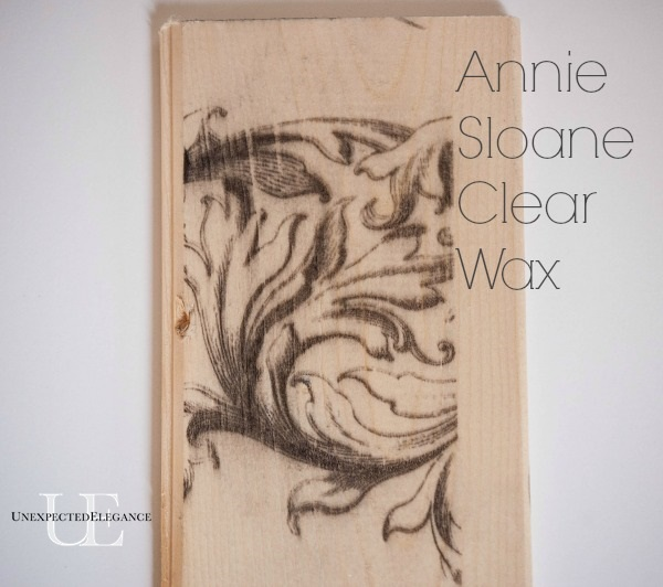 How to Seal Ink from a Wax Paper Transfer-Annie Sloane Clear Wax