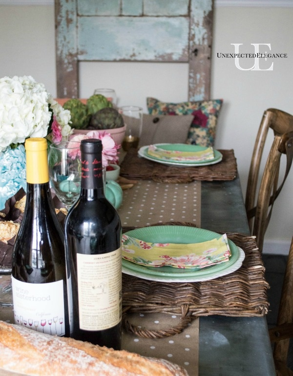 Spring Dining Room Tablescape-1-7
