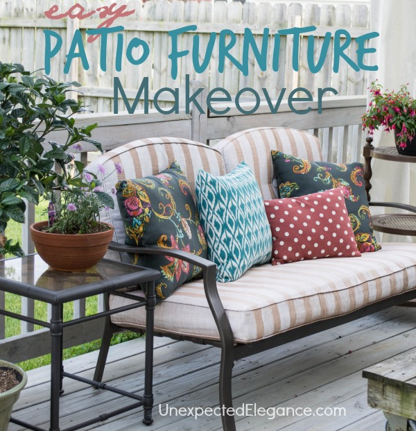 Easy DIY Patio Furniture Makeover