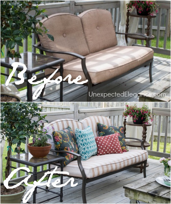 Frog Tape Patio Furniture Makeover