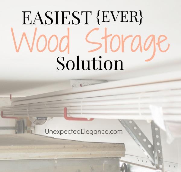 EASIEST EVER Wood Storage