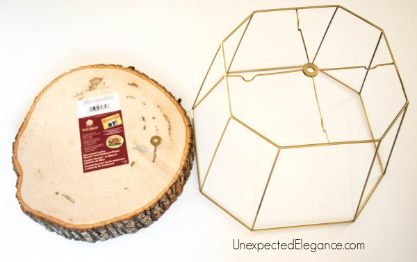 Upcycled Lamp Shade Cake or Plant Stand-1