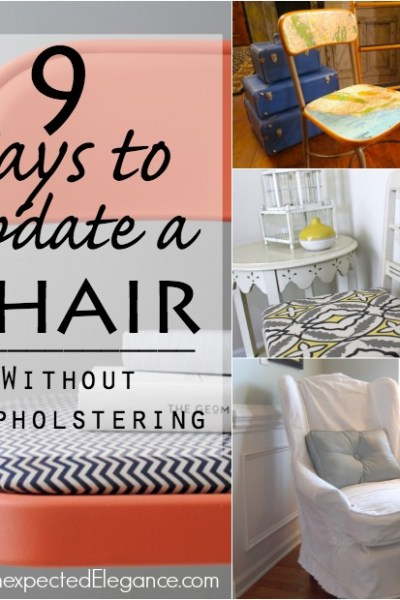 9 Ways to Update a Chair without Reupholstering