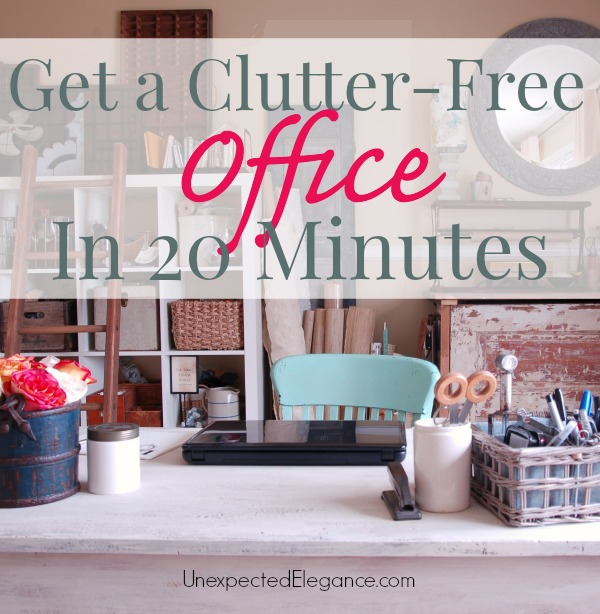 Get a Clutter-Free Office in 20 Minutes