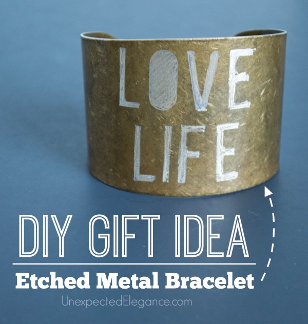 10 Minute DIY Metal Bracelet.  Great for a personalized gift.-1-5