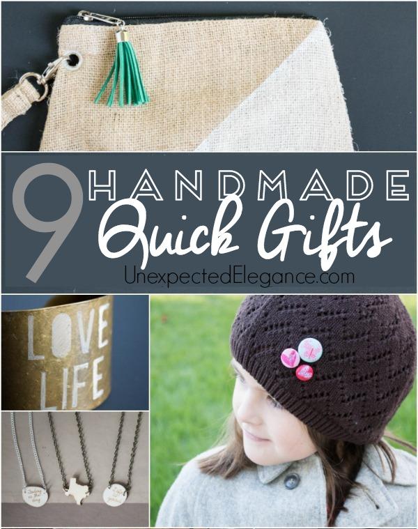 {9} Handmade Gifts