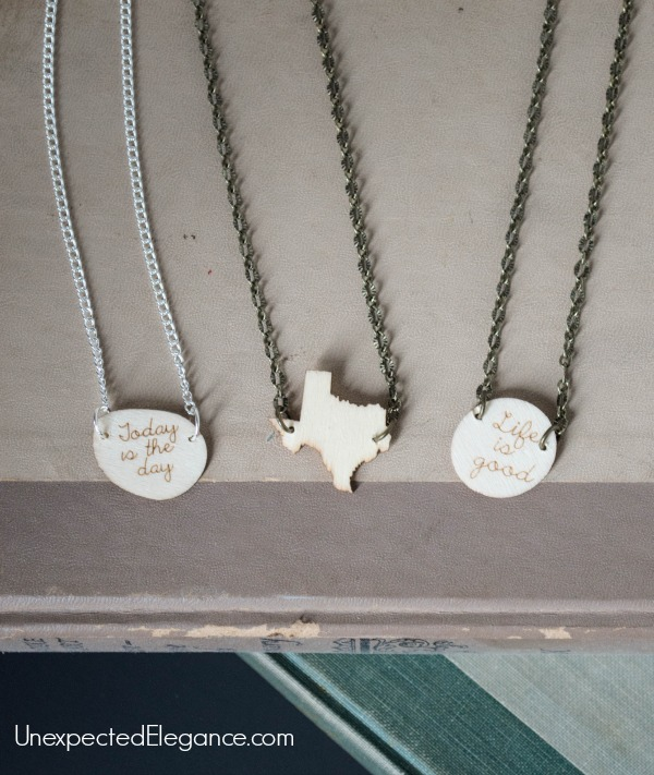 DIY Wooden Charm Necklace. Perfect for gift giving.-1-5