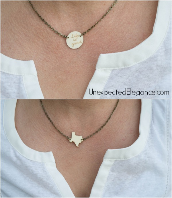 DIY Wooden Necklace for Gift Giving