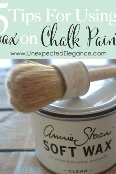 5 Tips for Using Wax on Chalk Paint {Video Series}