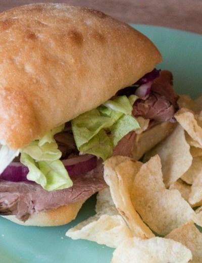 Roast Beef and Lemon Basil Aioli Sandwich