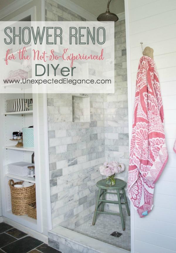 diy shower renovation using an amazing