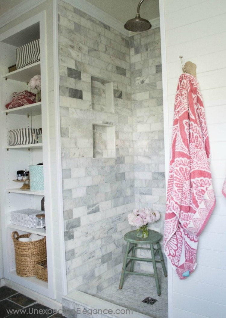 Simple and cost-effective ways to give your shower a custom look on a budget!