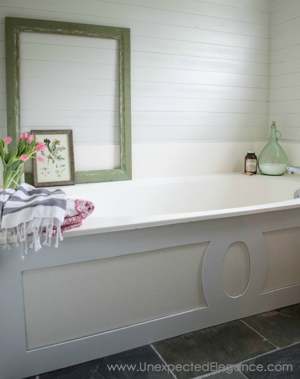 Do You Have A Large Soaker Tub That Need A Little Update? Check Out This
