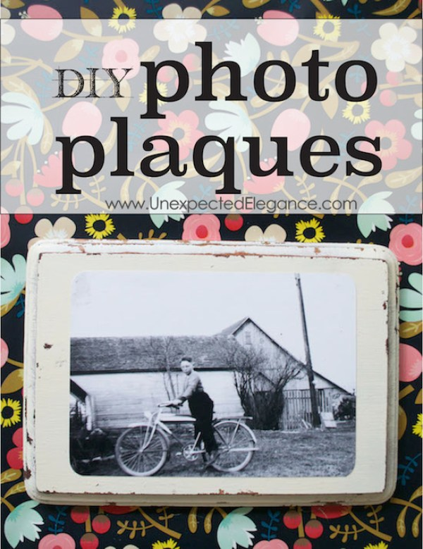 Need a quick and inexpensive way to display your photos?  Check out this awesome DIY tutorial for making photo plaques.  They are great for a gallery wall or to give as a gift!