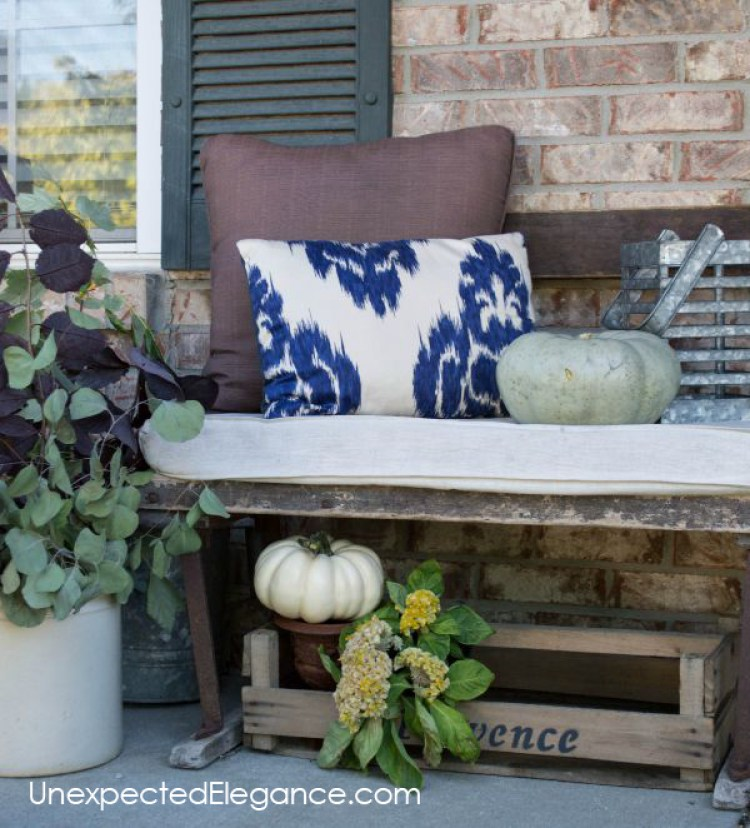 Fall decor ideas for your porch.