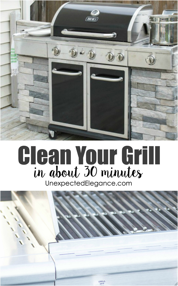It's that time of year again...grilling season! Get a few tips to help you get your grill clean in about 30 minutes. Simple tricks and the right products will help you save time and money.