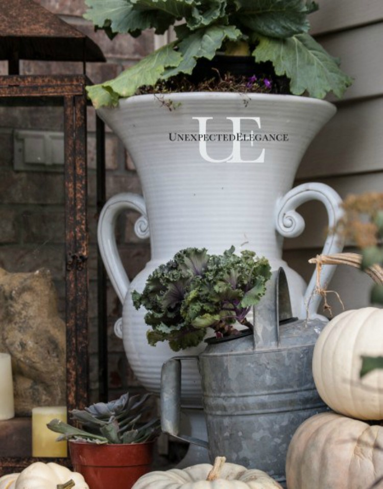 Add some color to your porch this fall with these simple and inexpensive ideas!