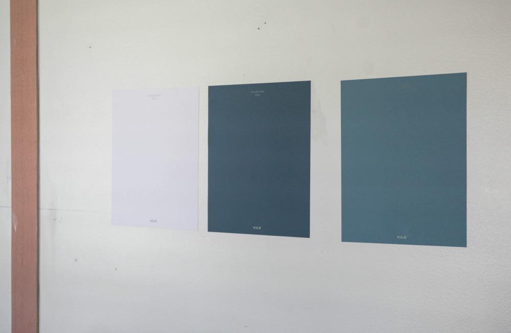 Using Kilz Peel and Stick paint samples