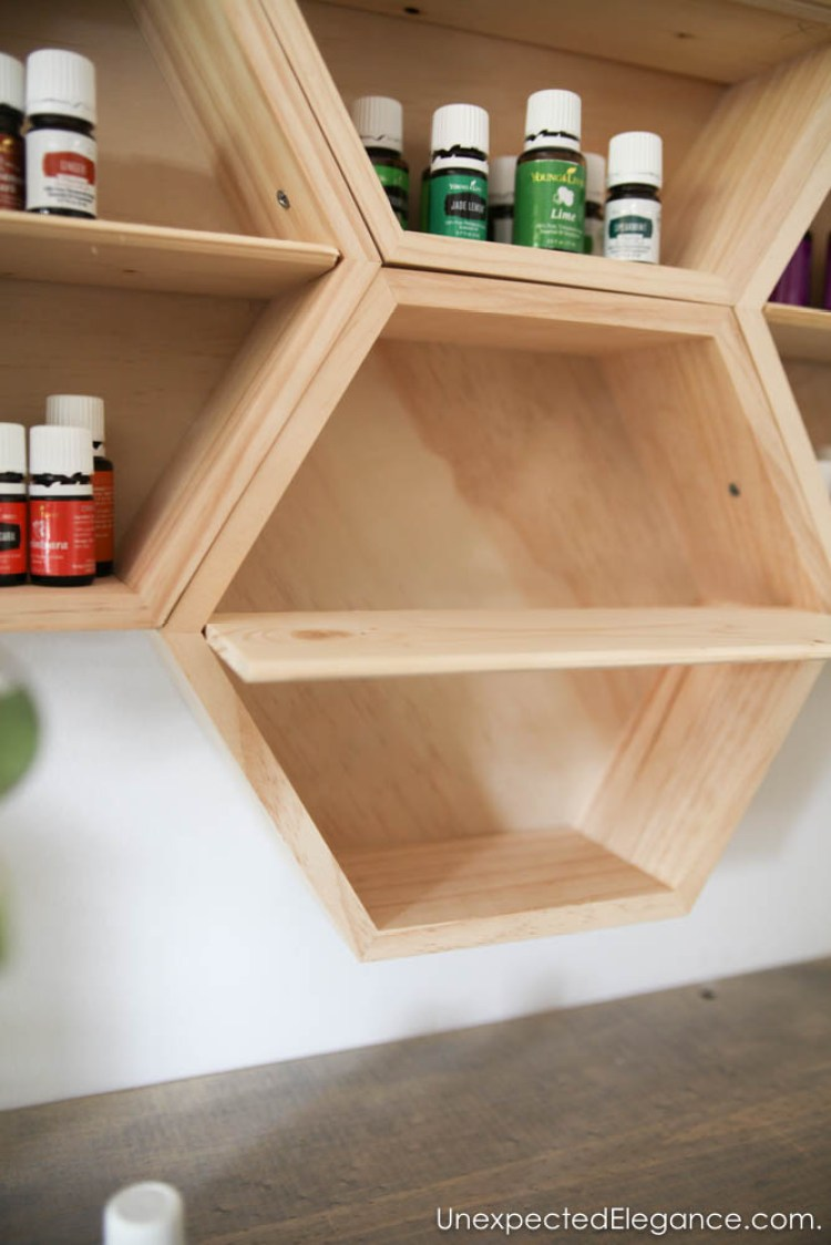 Directions for how to make this simple essential oil wall cabinet.
