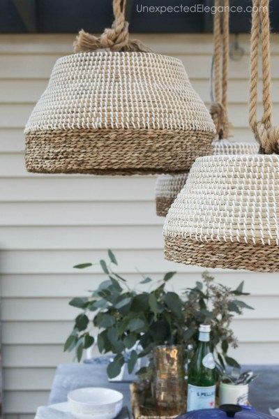 DIY Outdoor Pendant Light