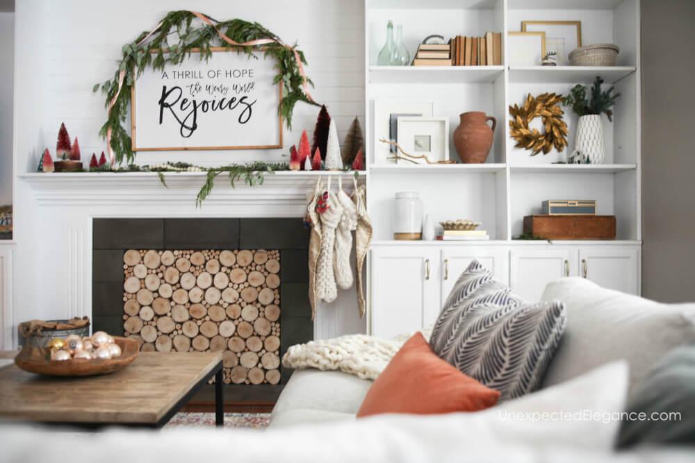 Simple and festive Christmas decor ideas.