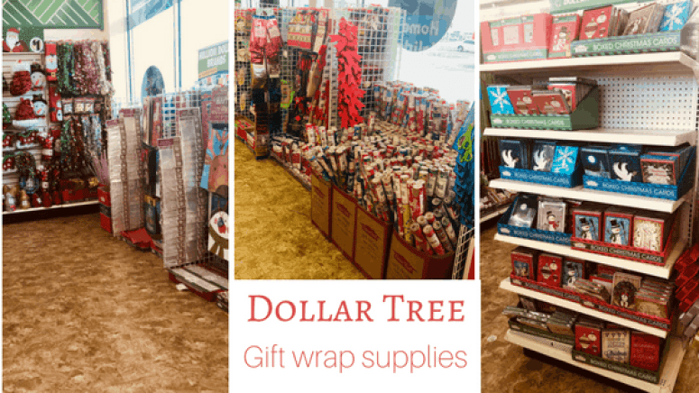 Dollar Tree Gift Wrap