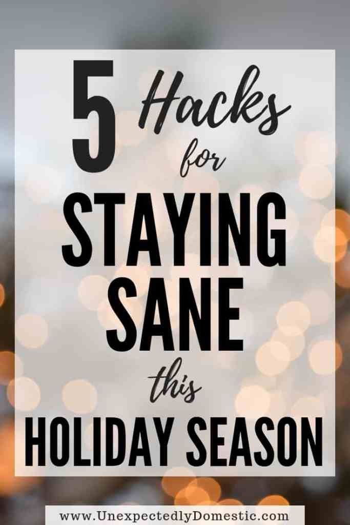 The holiday season can be so hectic. Use these simple tricks to reduce your anxiety and manage holiday stress so you stay sane at Christmastime.