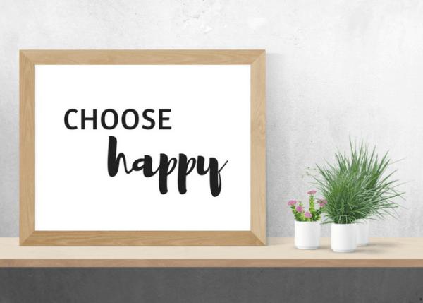 choose happy printable