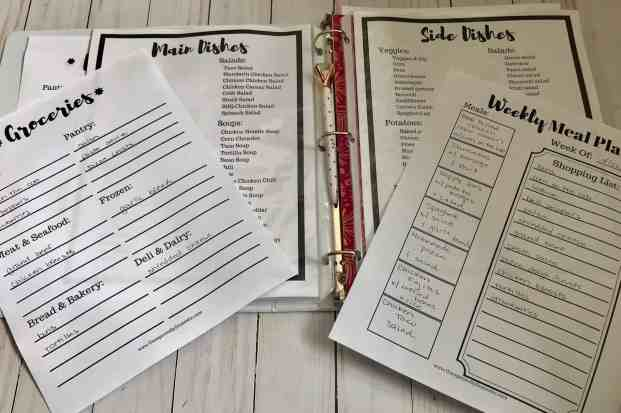 free weekly meal planning printable