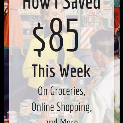 Week 20: How I Saved $85