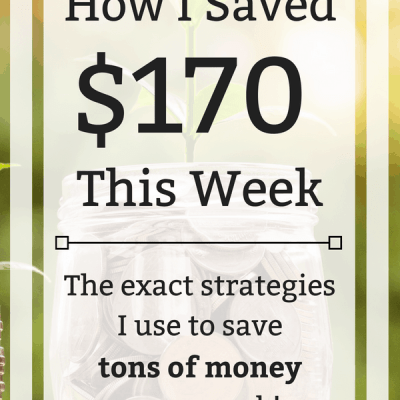 Week 22: How I Saved $170