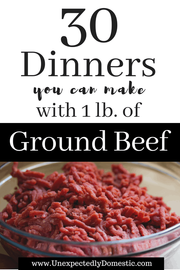 Wondering what to do with that pound of ground beef? Look no further than these 30 simple ground beef recipes. Simplify meal planning and stretch your grocery budget with these easy and quick ground beef recipes!