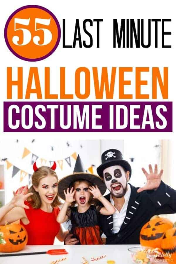 Creative last minute homemade costume ideas! You can DIY these quick Halloween costumes from your own clothes. Tons of cheap and easy costume ideas!