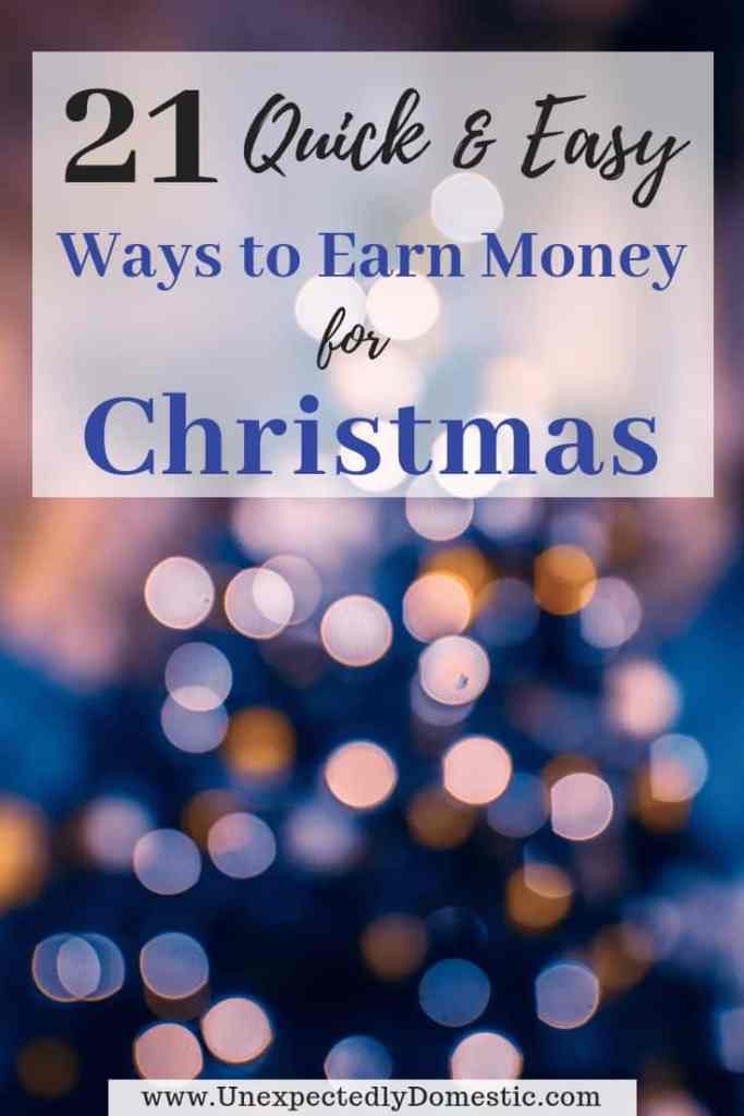 Earn money for Christmas