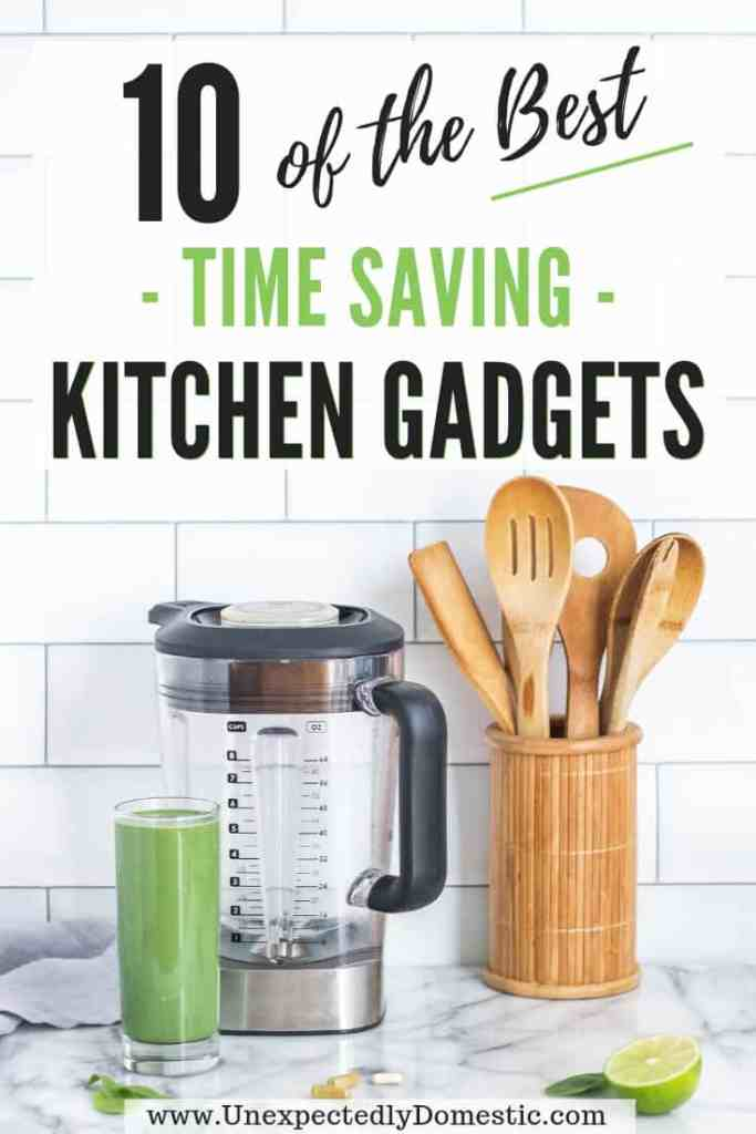 Check out this list of the 10 best time saving kitchen gadgets and learn how to save time cooking! Make dinner time easier with these cheap kitchen gadgets.