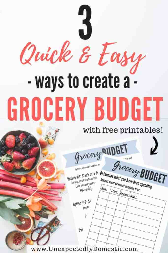 Struggling to keep your food budget low? Check how to create a grocery budget that will really work for you! And how to stretch your family grocery budget!