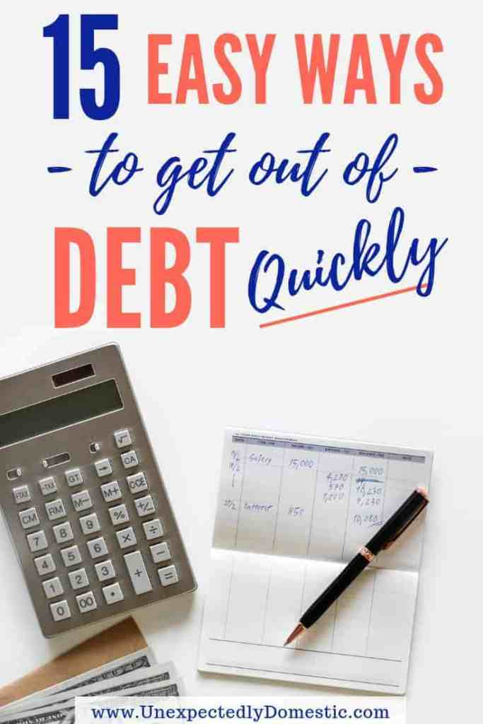 Got too much debt? Learn how to pay off debt quickly with these 15 easy tricks. Get out of debt fast, even on a low income!