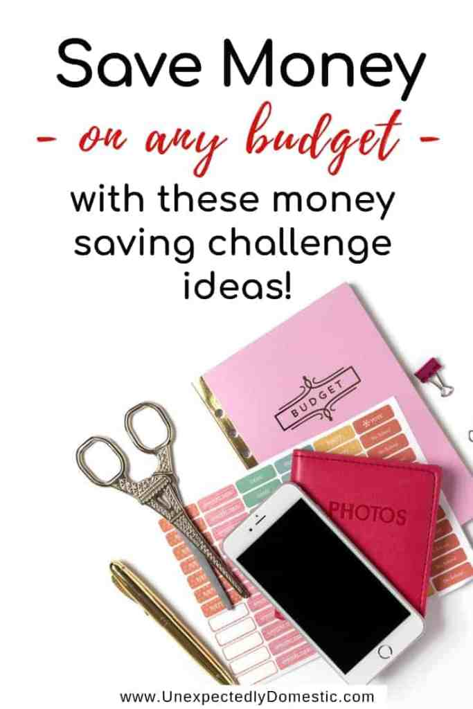 Check out these 52 week money saving challenges! No matter your budget, these weekly, biweekly, or monthly savings plans will work! Printable template too!