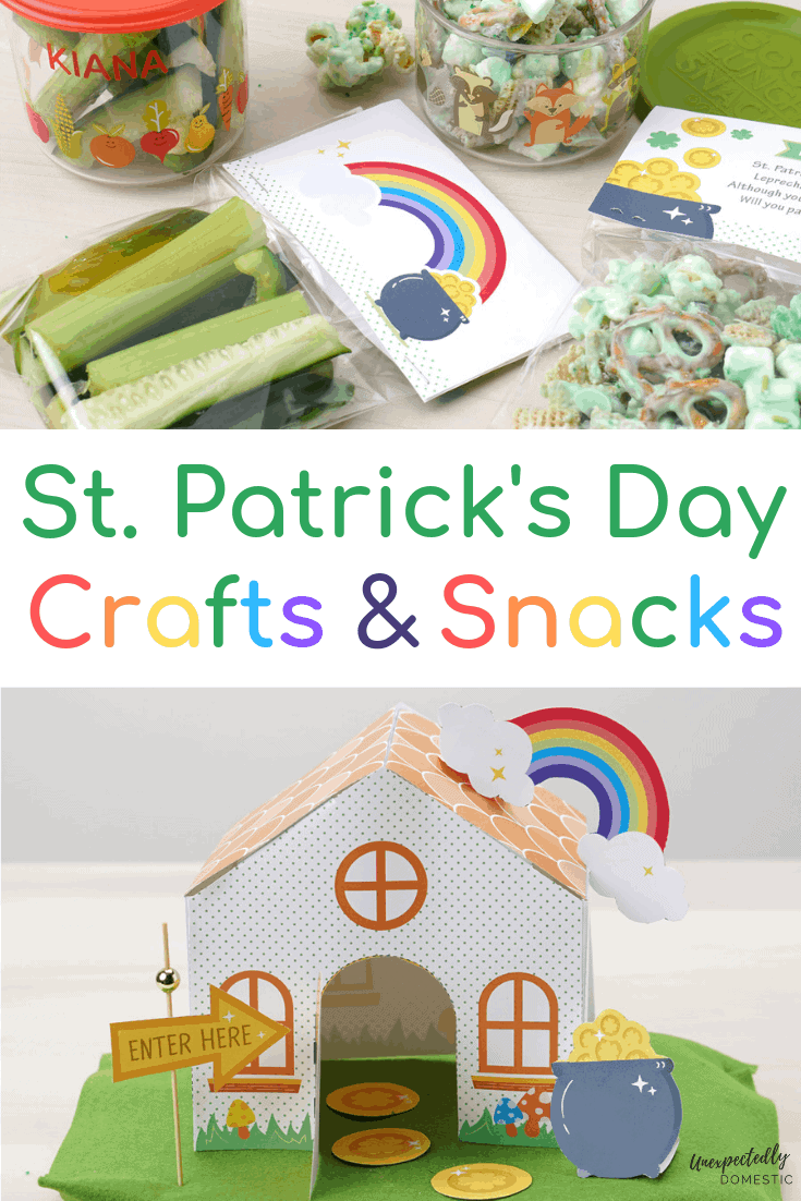 These festive and cute St. Patrick's Day crafts and snack ideas are perfect for kids and adults alike. Trap a leprechaun with these easy to make activities!